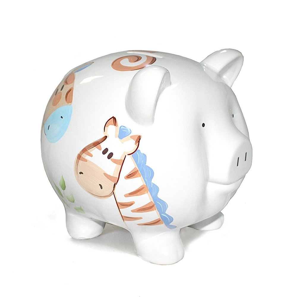 Child to cherish piggy bank ladybug large shipping for Childrens piggy bank