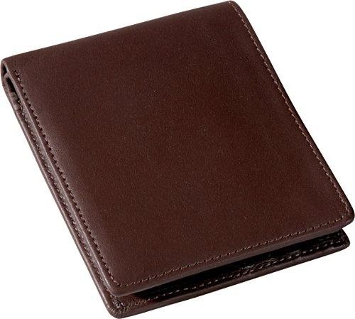 Men 39 s bi fold wallet w 2 id window zippered compartment for 2 id window wallet
