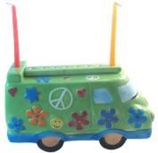 Gift Mark Themed Menorah, Ceramic Peace Van