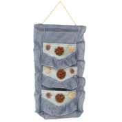 [Plaid & Lace] Blue/Wall Hanging/Wall Organisers /Baskets /Hanging Baskets/Baskets