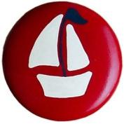 Apple Red Sailboat Furniture Knob
