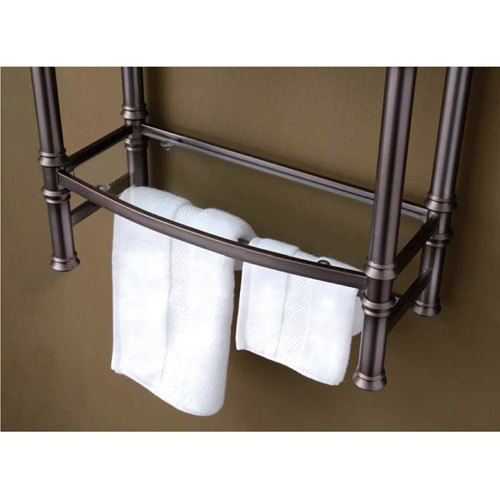Best living inc monaco small etagere wall mount brushed for Small bathroom etagere
