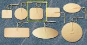 Pepin WTS22 Advantrode Tan Spunlace Electrode - 5.1cm X 5.1cm Square Prewired - 20 Packs Of 4