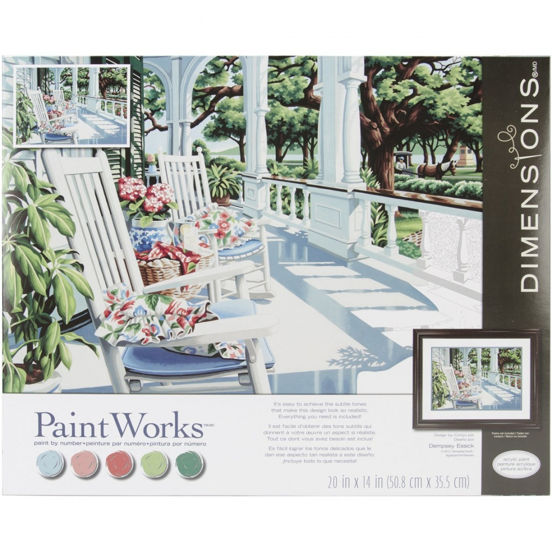 dimensions paint by number craft kit veranda delivery is free ebay. Black Bedroom Furniture Sets. Home Design Ideas