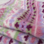 Tuppence and Crumble Soft Felted Lambswool Fairisle Baby Blanket Pink