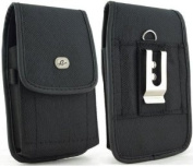 for Samsung Galaxy Note & X-Large Slim Vertical Smart Phone Case / Pouch / Holster w Metal Clip hook and loop Belt Loop 5.8x3.4x0.50