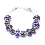 Purple Charm Bracelet Women's Pandora Style