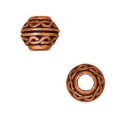 Copper Plated Pewter Celtic Large Hole Spacer Beads 8mm