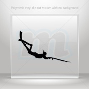 Decal Sticker Spearfishing Diver car helmet window bike Garage door 0502 W7953