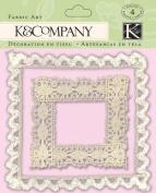 Valentine White Lace Fabric Art - K & Company