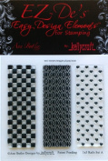 KellyCraft EZ-De's Rails Polymer Stamp, 2.5cm by 7.6cm , Set A