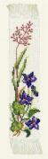 Eva Rosenstand 45-224 Violet Floral Bookmark Kit 28