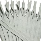 Unique Invisible Zipper 20cm ~ YKK Conceal Zipper (912) Clay Brown