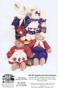 RiverTown Warehouse R-253 Sewing Pattern Bear Bunny Applebearies Strawbunnies