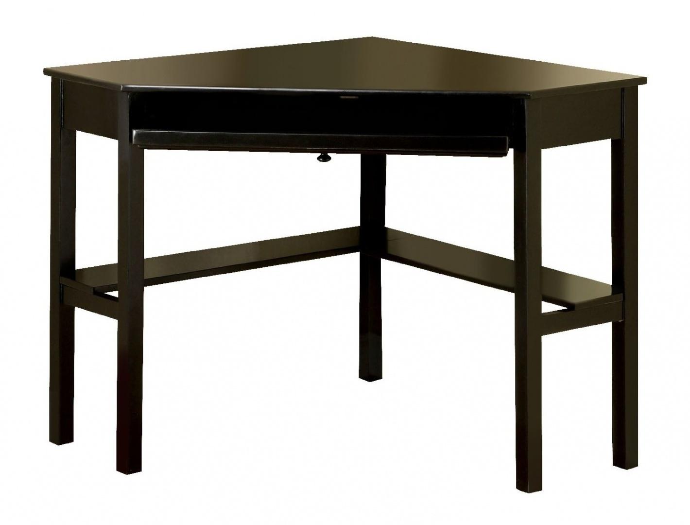 of america itelia modern corner computer desk black finish free ship