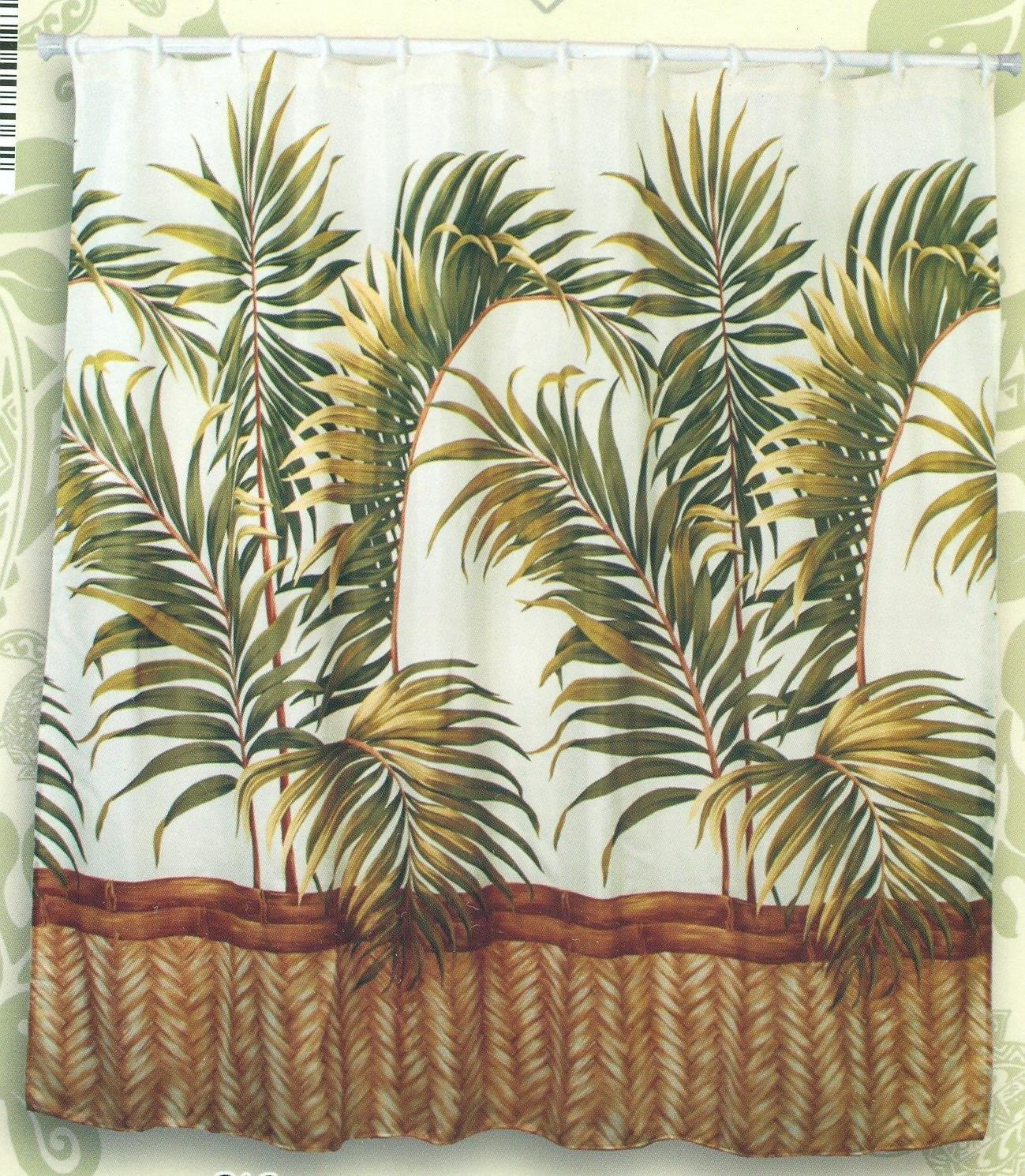 Hawaiian Tropical Fabric Shower Curtain Orchid 11street Malaysia Bathroom Accessories