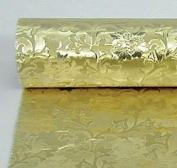Embossed Florist Foil GOLD - Camelot style design. NEW larger size - 50cm x 15m