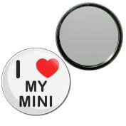 I Love My Mini - 55mm Round Compact Mirror