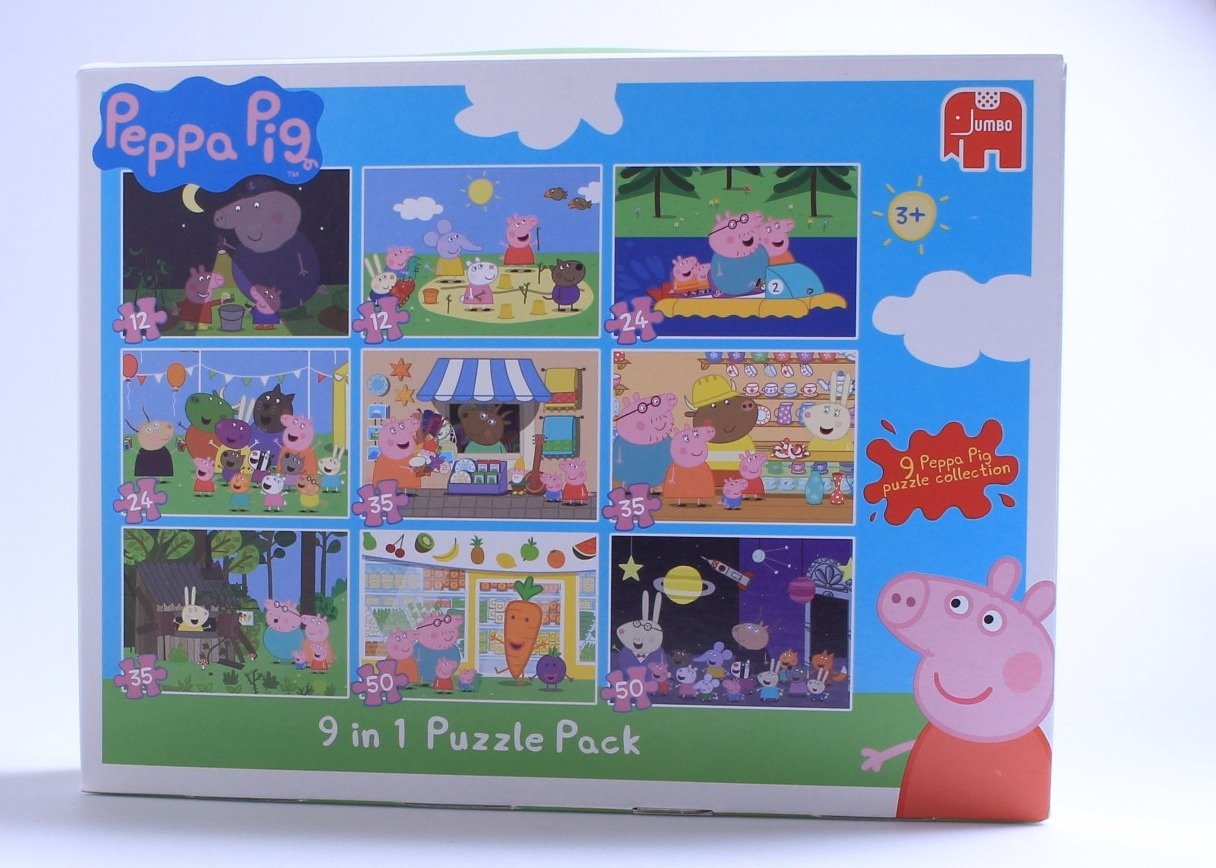 peppa pig 9 in 1 jigsaw puzzle pack 11street malaysia board games