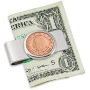 American Coin Treasures Belgium King Albert II Five Cent Euro Coin Money Clip