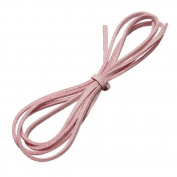 Water & Wood 1m Faux Suede Cord Craft Lace Leather Flat Cord DIY Rope Strings Bracelet Light Pink