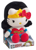 Jemini - Peluche Hello Kitty Super Héros - Wonderwoman 27cm - 3298060227902