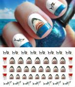 Great White Shark Set #1 - WaterSlide Nail Art Decals - Salon Quality! Celebrate Shark Week!