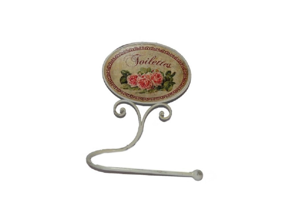 cream metal toilet roll holder vintage french style shabby chic with pink rose toilettes detail. Black Bedroom Furniture Sets. Home Design Ideas