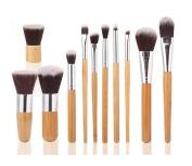 HOSL Makeup Brush Set Powder Foundation blusher Cosmetic Bamboo Handle with a brush bag 11PCS