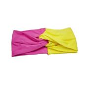 SEEKO Women Girls Wash Face Headbands Head wrap Hair Band Yoga Cotton Turban Twist Headband Cross Knot Hair Bands Yellow+ Rose