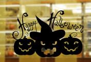 Lanue® Happy Halloween Festival Pumpkin Removable PVC Cartoon Wall Stickers Decal Stickers Glass Window Art Sticker