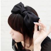 Fashion Sweet Korean Style Lovely Big Bowknot Hair Band Bow Headband Hair Hoop Hair Accessory Colour Black Dark Blue Pink
