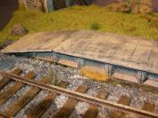 1/35 Scale Railway / Train station Platform - resin diorama accessory