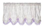 Glenna Jean Penelope Window Valance, Lavender/White