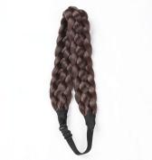 CoolCos Hair Braids Chuncky Braided Headband Hair Accessories Nine Colours