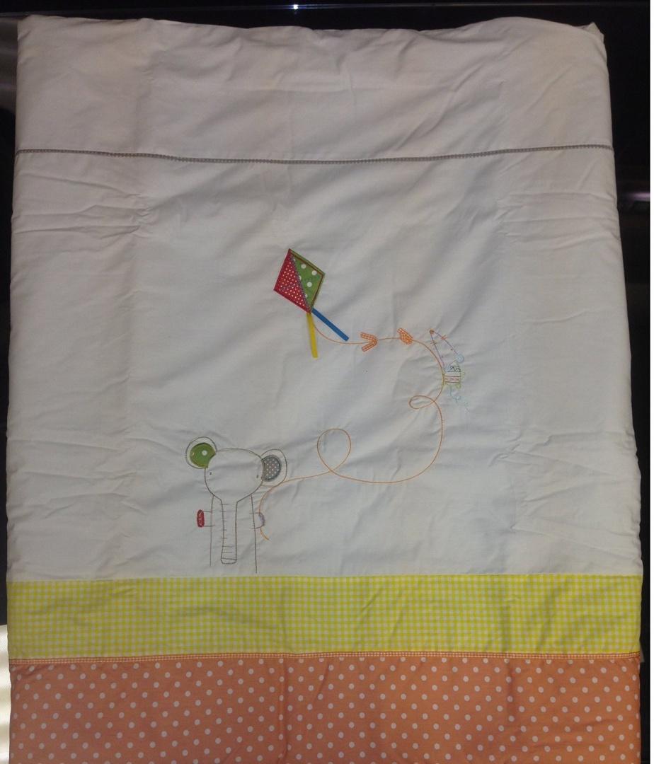 Mamas And Papas Quilt Bumper Sheet And Fleece Blanket