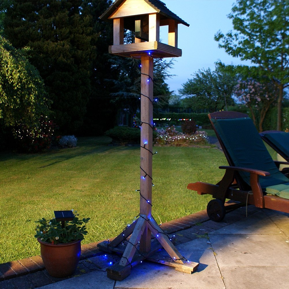10m 100 LED Solar Powered Outdoor Fairy Lights with Timer ...