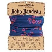Natural Life Boho Bandeau Band, Navy/Pink Floral