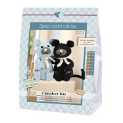Go Handmade Burt & Bart The Kittens 13cm Crochet Needlework Kit, All Parts & Materials Included!