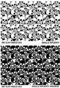 Flexistamps Texture Sheet Set Skulls Aplenty (Including Skulls Aplenty and Skulls Aplenty Inverse)- 2 Pc.