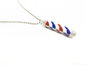 Barber Pole Necklace Classic Barbering Old Fashion Barbering Necklace