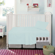 Duck Egg Blue Superior Egyptian Cotton Fitted Sheet By Sleep & Smile : Cot Bed (70 x 140cm) Size Duck Egg Blue