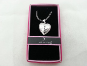 "Hallmark Love Locket Necklace with 41cm - 46cm Adjustable Chain - Letter ""J"""