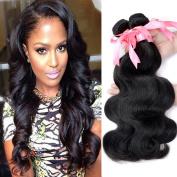 Brazilian Virgin Hair Body Wave 3 Bundles Virgin Brazilian Body Wave Hair Weave 300g Deal Natural Colour #1b Unprocessed Human Hair Products