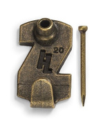 HangZ 113569.9lery Picture Hooks, 9.1kg, Antique Brass, 4-Pack