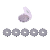 5PCS 45MM Rotary Crochet Edge Fleece Blade for Making Perfect Holes for Crochet Edge Projects