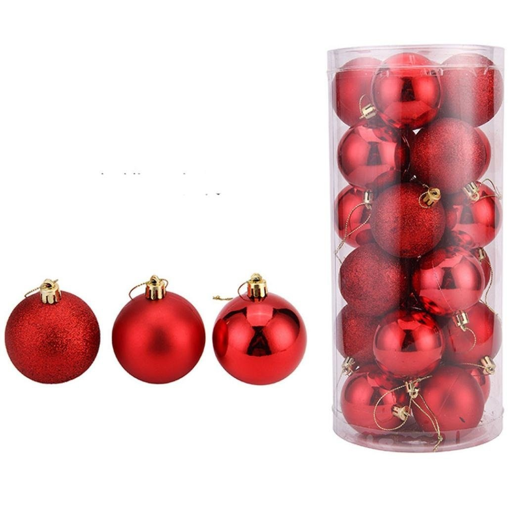 Red-Creazy-24Pcs-Christmas-Balls-Baubles-Party-Xmas-Tree-Decorations-Hanging