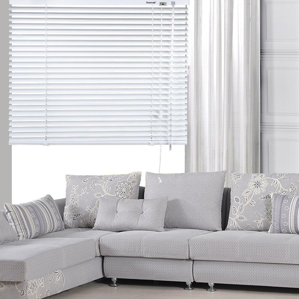 iZUHAUSE Silver Grey Aluminium Venetian Window Blinds Home Office ...