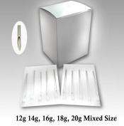 WellieSTR 500PCS Mixed Size Piercing Needles Sterilised 12/14/16/18/20 Gauge - 100pcs per size
