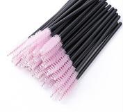 Salmony 100 Pieces Disposable Eyelash Mascara Brushes Eyelashes Stick Wands Applicator Makeup cosmetics Tools